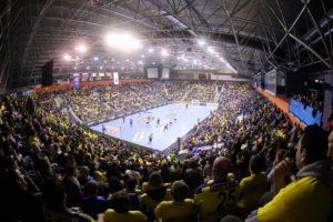 Najbogatejši rokometni klub na svetu je pričakala polna dvorana Zlatorog.